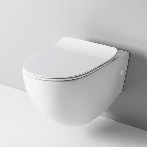 Крышка с сиденьем Slim для унитаза ArtCeram File 2.0, механизм soft-close, цвет белый/хром
