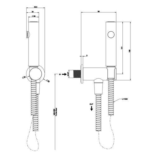 Гигиенический душ Gessi Anello sanitary
