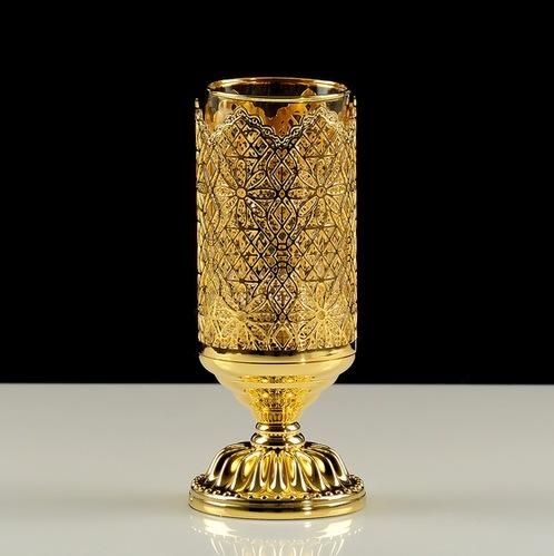 Migliore Luxor стакан настольный, стекло/латунь (золото)