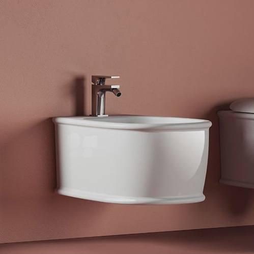 Artceram Atelier Биде подвесное 52х37см, с 1 отв под смеситель, цвет: белый