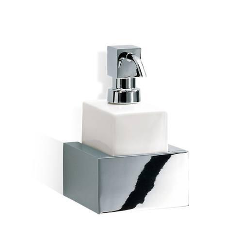 Decor Walther Brick WSP Дозатор для мыла, подвесной, фарфор белый, цвет: хром