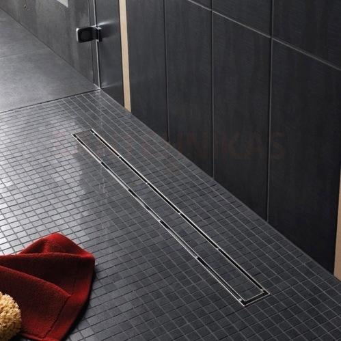 """Комплект TECElinus для монтажа дренажного канала 2 в 1 - с основой для плитки """"tile""""/панелью """"steel"""" , длина 900 мм"""