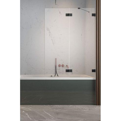 Душевая шторка на ванну Radaway Essenza Pro PND II, H-150 см, чёрный профиль