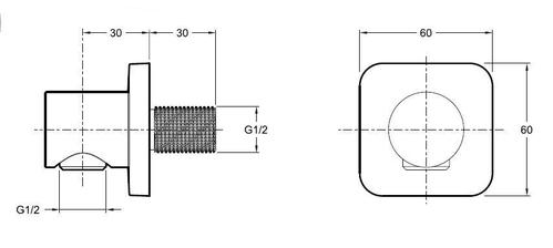 Коленное соединение для шланга c обратным клапаном Jacob Delafon
