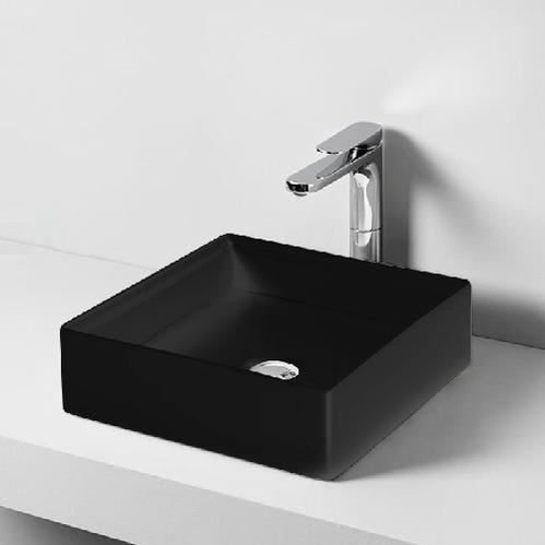 Раковина накладная Artceram SCALINO 38х38 см, цвет черный