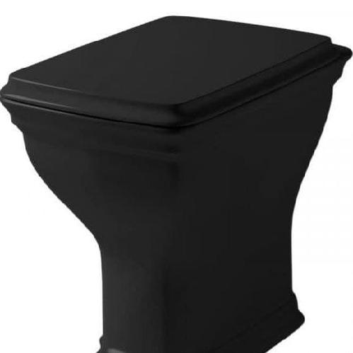 Унитаз ArtCeram Civitas напольный 36x54 см со сливом в стену, цвет черный