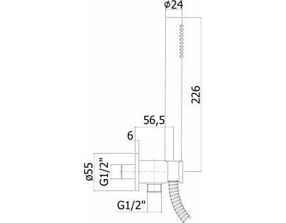 Система скрытого монтажа для ванны Paffoni Light (черный матовый)