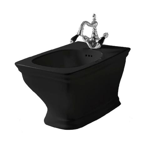 Биде ArtCeram Civitas подвесное 36х54 см, 1 отверстие, цвет черный