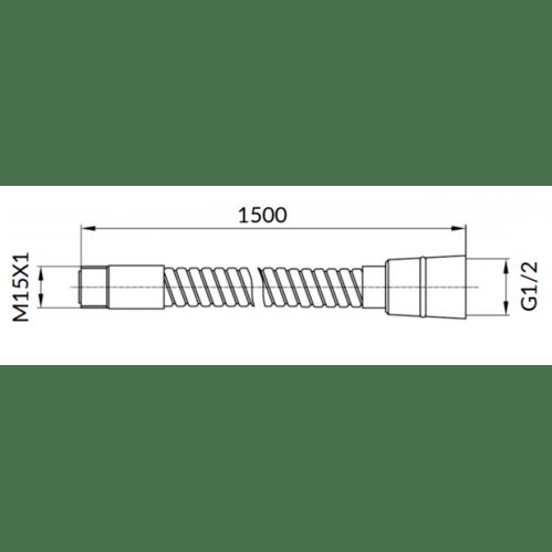 Omnires Шланг 150, хром