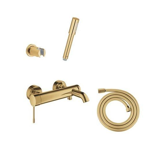Grohe смеситель для ванны с душевым набором, золото
