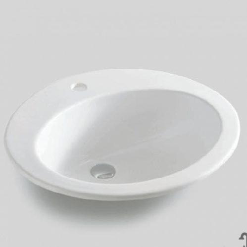 Раковина встраиваемая ArtCeram Eolo 59х48 см, 1 отверстие, цвет белый