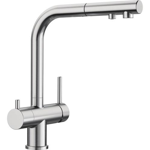 Смеситель для кухни Blanco Fontas-S II Ultra Resist, с выдвижной лейкой, под фильтр, сталь