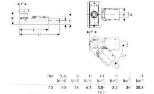 Geberit CleanLine  корпус дренажных каналов 65мм
