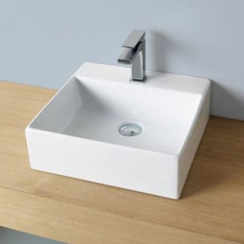 Раковина ArtCeram Quadro подвесная/настольная 40x38 см, цвет белый