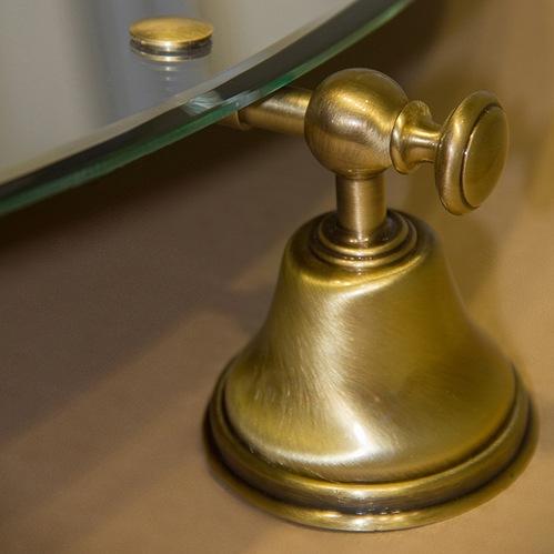 TW Harmony 021, вращающееся зеркало овальное 56х66см, цвет держателя: бронза