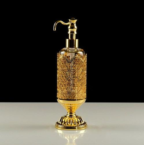 Migliore Luxor дозатор жидкого мыла настольный, стекло/латунь (золото)