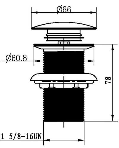 Слив для раковины, автомат(клик-клак), Boheme   бронза