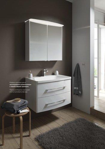 """""""Неринга"""" шкаф-зеркало с подсветкой, цвет белый."""