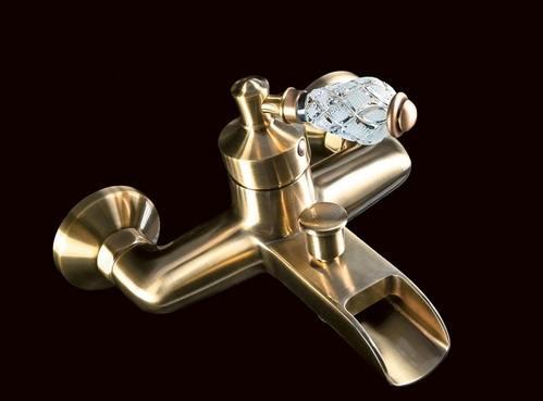 Смеситель для ванны Boheme Vogue Crystal бронзовый