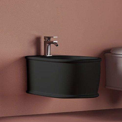 Биде ArtCeram Atelier подвесное 37х52,5 см, 1 отверстие, цвет черный матовый