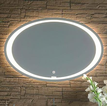 Зеркало Aqwella Clarberg Ellipse с подсветкой, сенсорным выключателем