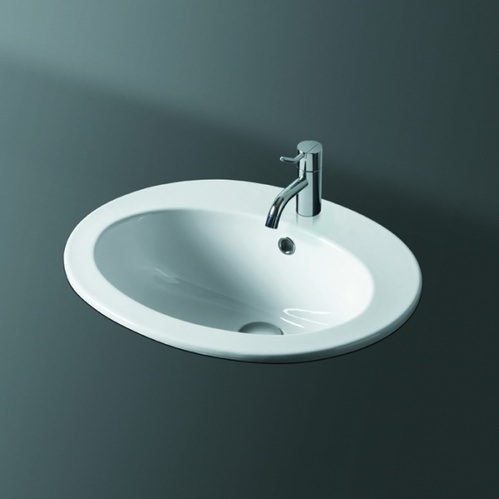 SIMAS Top e lavabi d'arredo Раковина встраиваемая с 1 отверстием , цвет белый