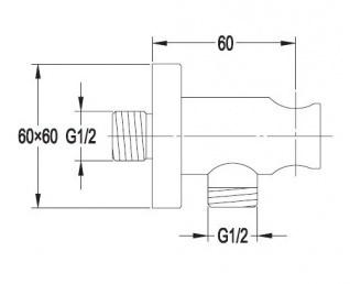 Душевая система Omnires  Astoria, лейка Ø20, металл