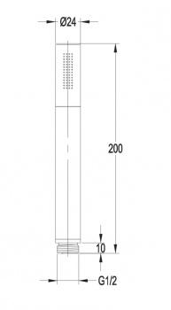 Ручной душ Omnires MICROPHONE-RCR, хром