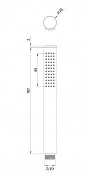 Лейка ручного душа Omnires Micro-R, хром, пластик, на 1 режим