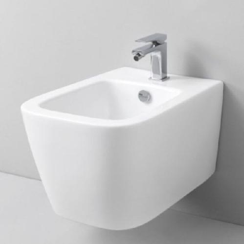Биде ArtCeram A16 подвесное 36х52,5 см, 1 отверстие, цвет белый
