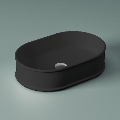 Раковина ArtCeram Atelier настольная 60х40 см, цвет черный матовый