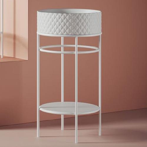 Консоль ArtCeram Vogue металлическая для круглой раковины 44 см, цвет белый матовый
