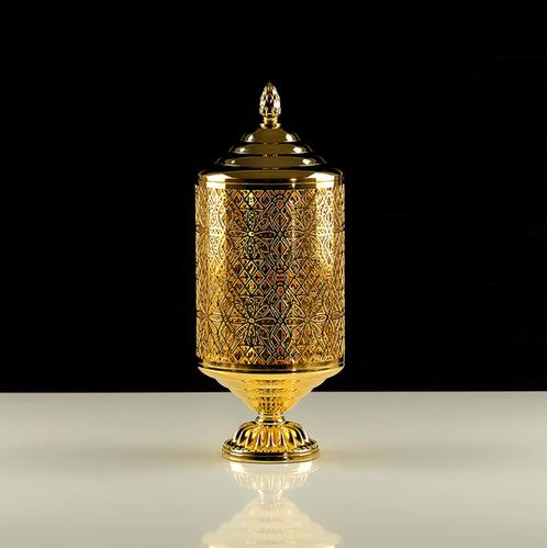 Migliore Luxor баночка на ножке высокая H15xD12 см с крышкой (золото)