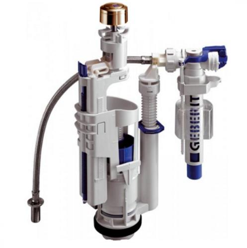 KERASAN Механизм двойного смыва GEBERIT, нижний подвод воды, цвет бронза