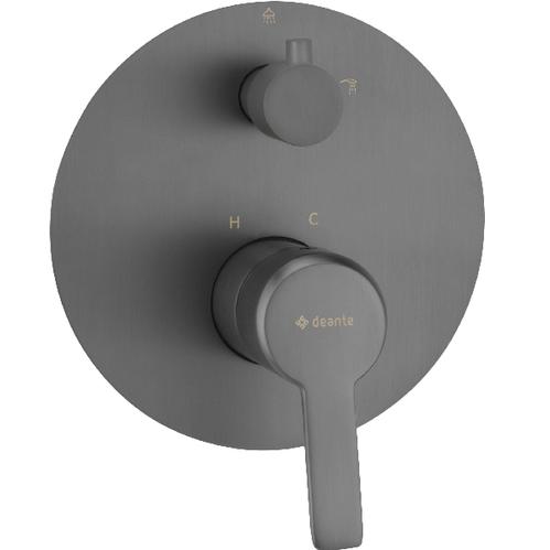 Смеситель Deante Arnika Titanium скрытого монтажа однорычажный, на 2 режима, цвет графит