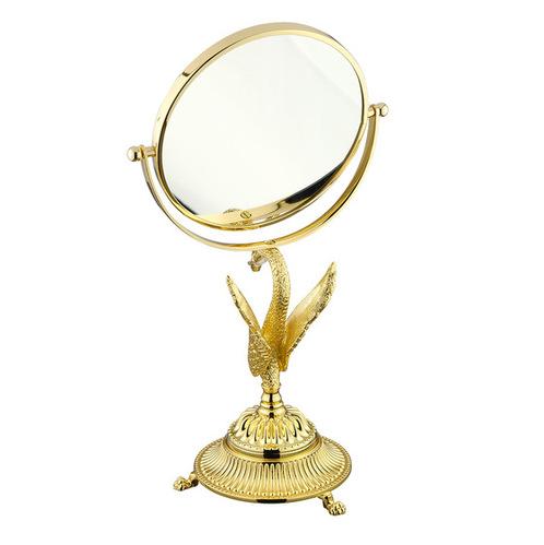 Зеркало оптическое D18xH38 см. (3Х) настольное Migliore Luxor, золото