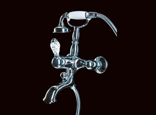 Смеситель для ванны(душевой комплект) Boheme Crystal хромированный
