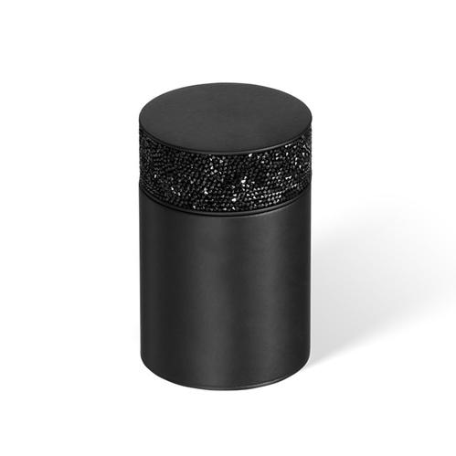 Decor Walther Rocks BMD1 Баночка универсальная, с кристаллами Swarovski, цвет: черный матовый