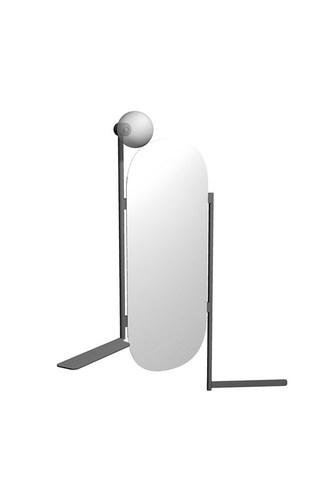 Scarabeo Diva Зеркало с вешалкой для полотенец, полкой и встроенным бра