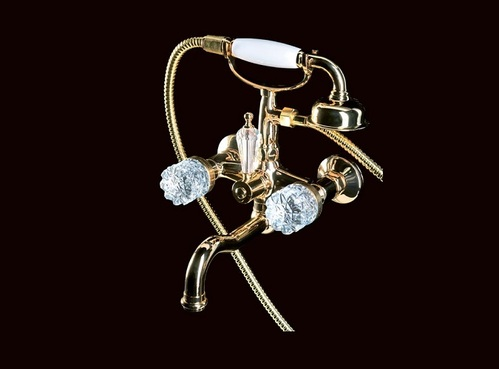 Смеситель для ванны(душевой комплект) Boheme Crystal золотой