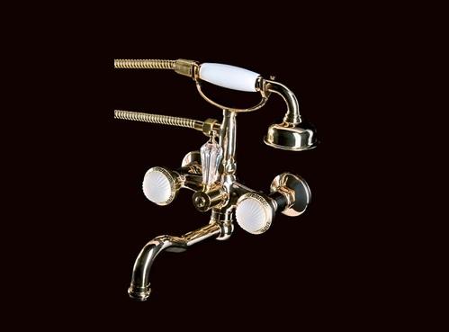 Смеситель для ванны(душевой комплект) Boheme Satine золотой
