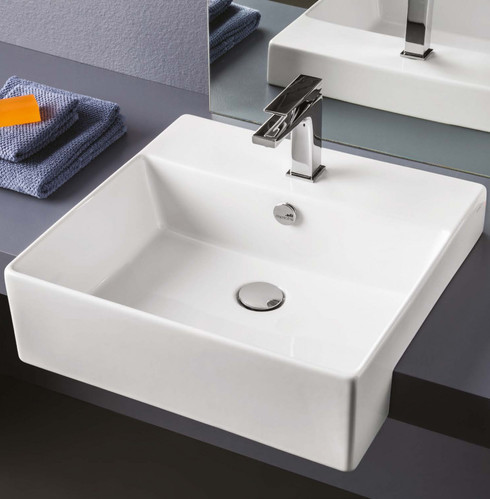 Раковина ArtCeram Quadro полувстраиваемая 50х48 см, цвет белый