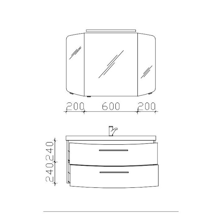 Pelipal Cassca Комплект мебели тумба 2 выдвижных ящика с раковиной 100см, Цвет: белый высокоглянцевый