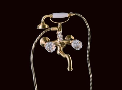 Смеситель для ванны(душевой комплект) Boheme Crystal бронзовый