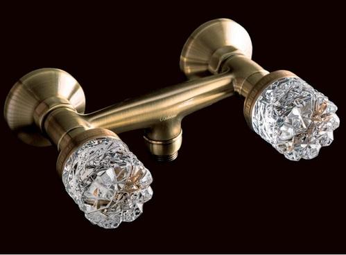 Смеситель для душа Boheme Crystal бронзовый