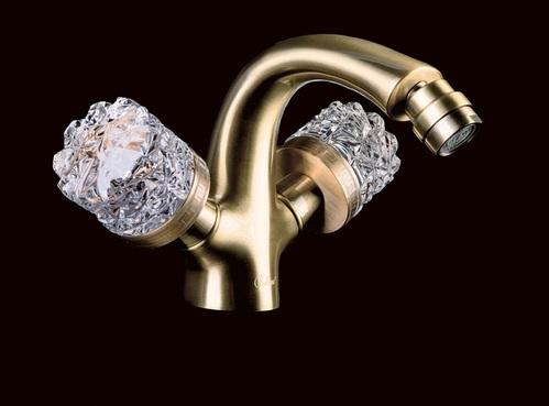 Смеситель для биде Boheme Crystal бронзовый