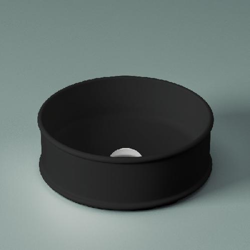Раковина настольная ArtCeram Atelier Ø 44 см, цвет черный