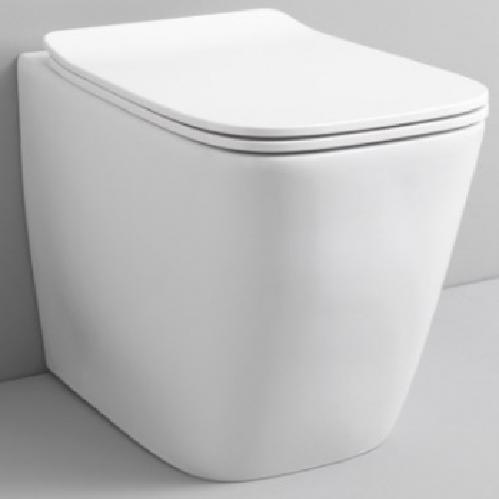 Унитаз напольный ArtCeram Rimless 36х52 см, цвет белый