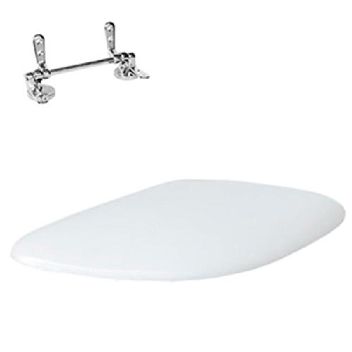 Крышка с сиденьем ArtCeram Azuley для унитаза, механизм soft-close, цвет белый/хром