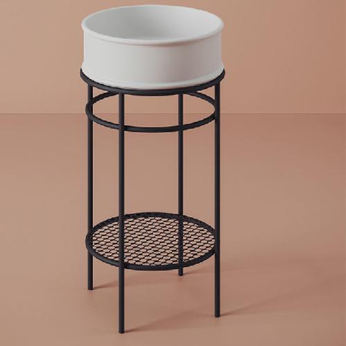 Консоль ArtCeram Vogue металлическая для круглой раковины 44 см, цвет черный матовый